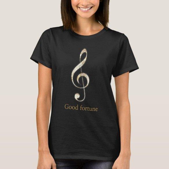 Treble clef Good fortune T-shirts ト音記号 幸運Tシャツ Tシャツ