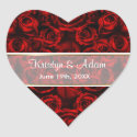 Rood nam Elegantie toe - pas aan zazzle_sticker