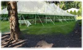 outdoor wedding reception tent noblesville