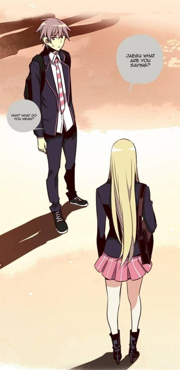 Typical awkwardness between Jae Gu and Queen.