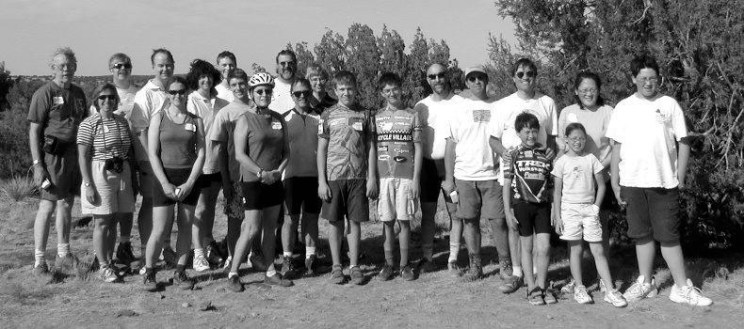 Some members of the hardy group that survived the 12 mile bike trek to the dinosaur tracksite.
