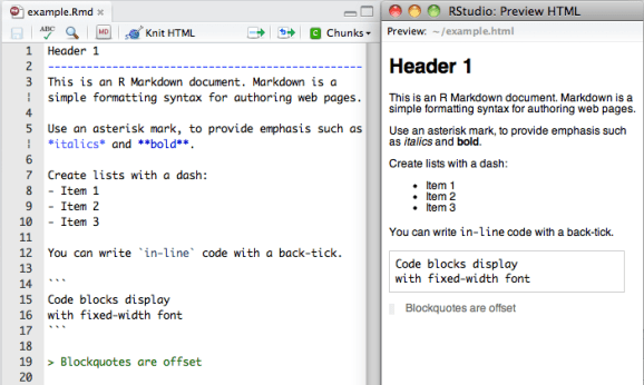 Markdown overview