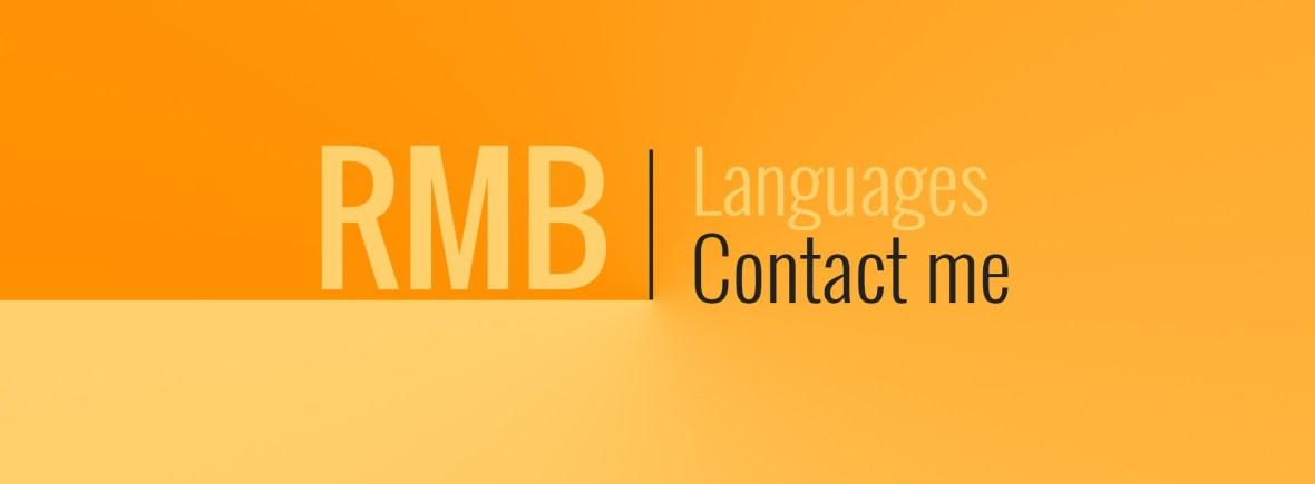 RMB Languages contact me