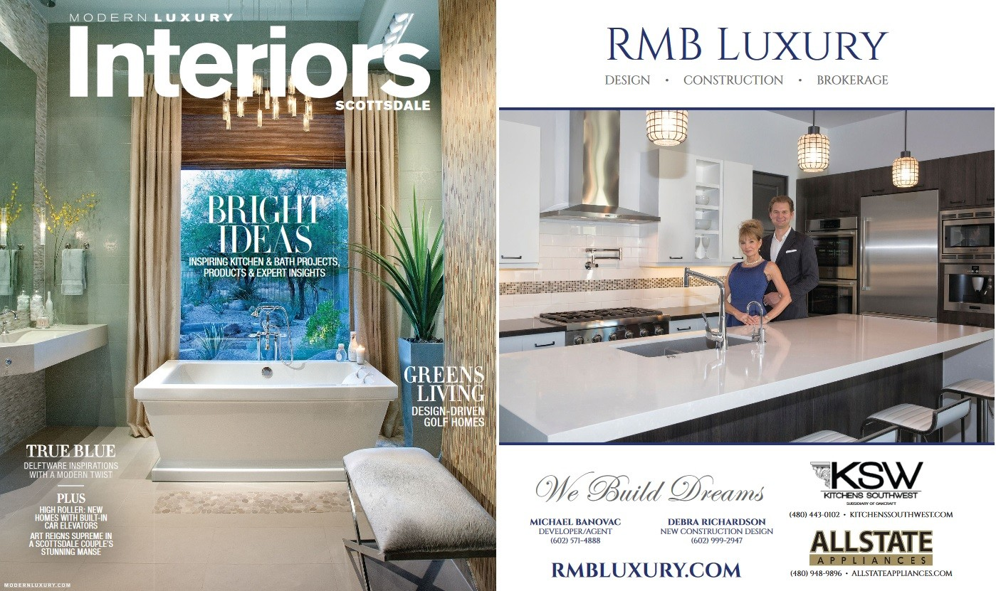 Debra Richardson   RMB Luxury Featured In Modern Luxury Interiors Scottsdale Fall Winter 2016 Issue