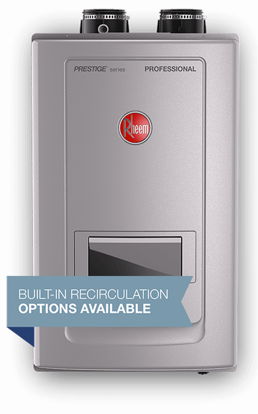 get continuous hot water with rheem tankless water heaters