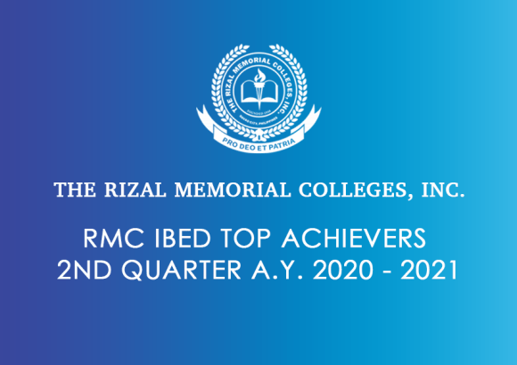 RMC IBED Top Achievers 2nd Quarter A.Y. 2020 – 2021