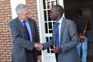 Fred MUVUNYI, RMC Chairman and H.E. Ambassador Donald W. Koran