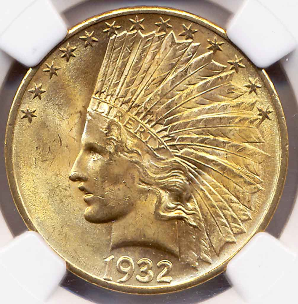 1932 $10 Indian Head NGC MS65*