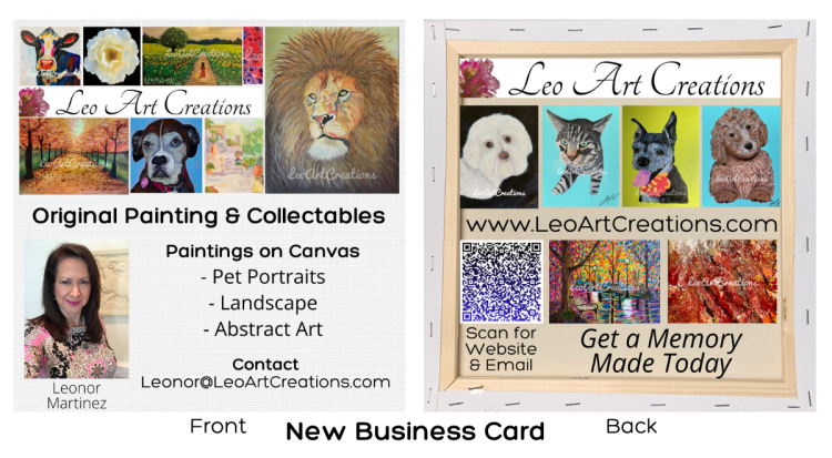 Leo Art Creations Business Card by R. Michael Brown Marketing Consulting