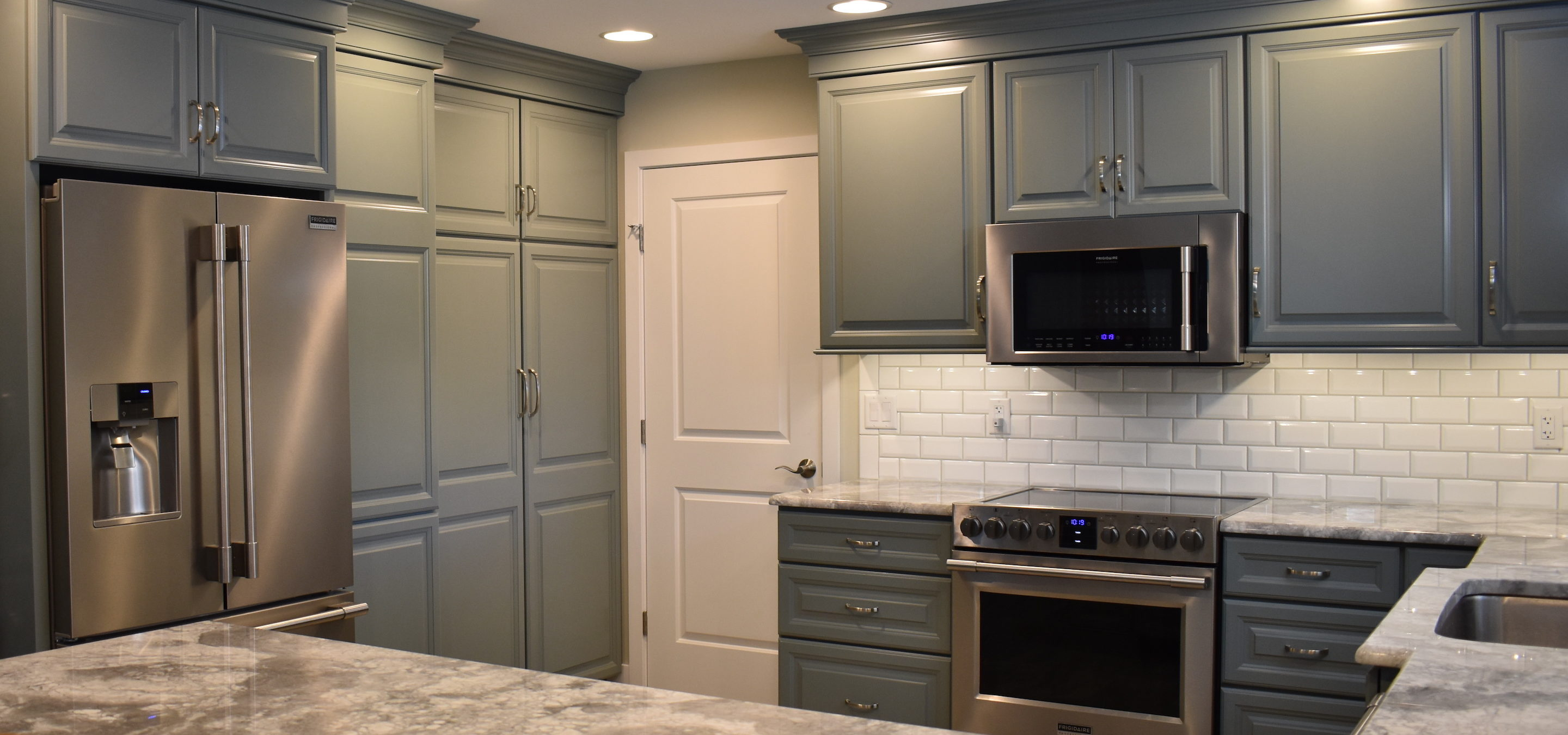 Kitchen Remodel With Custom Green Cabinets