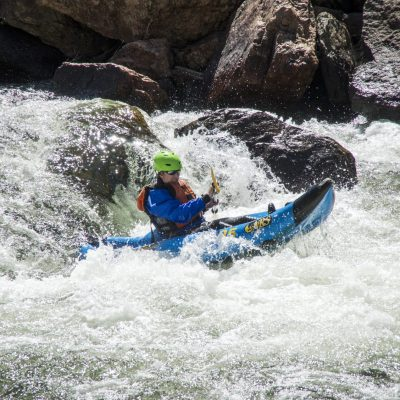 inflatable river kayak