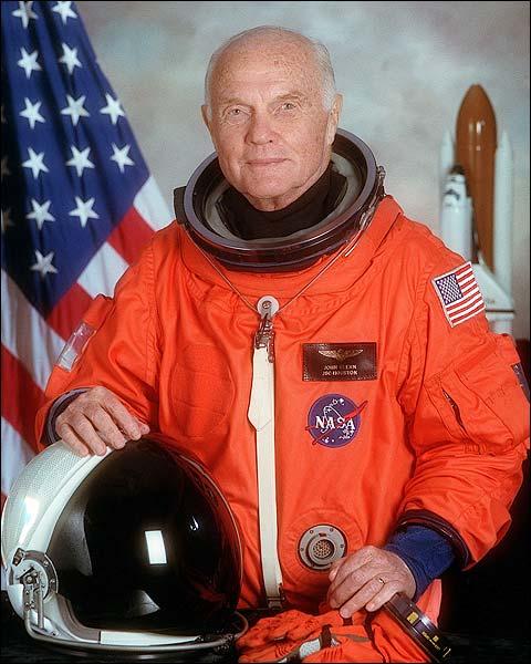 John Glenn Space Shuttle Astronaut Photo Print for Sale
