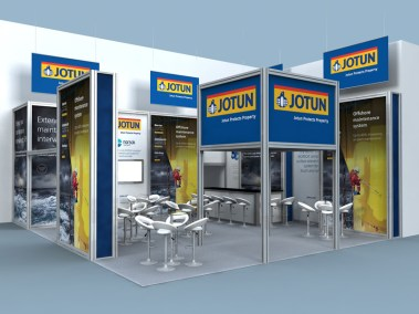 Exhibition stand for Jotun Paints at OTC Houston