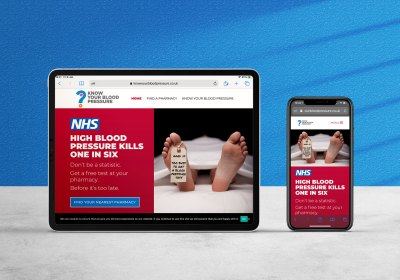 NHS blood pressure web site