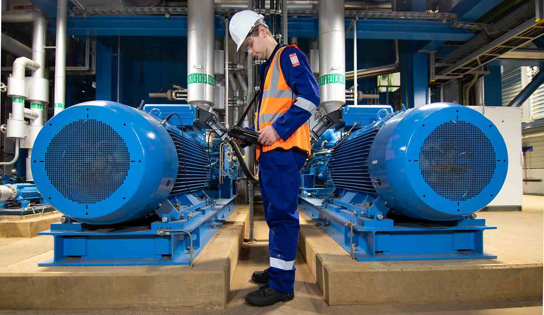rms vibration measurement analysis onsite motor