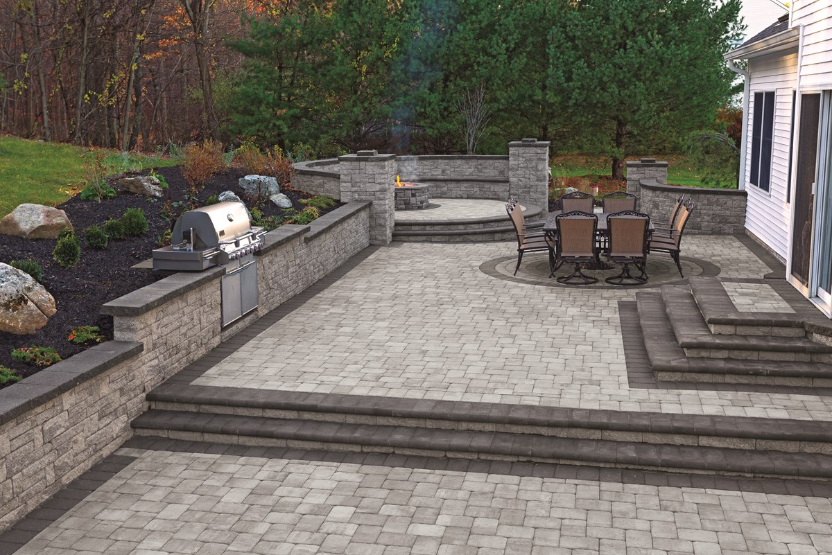 decorative gray brick pavers paving contractors in edison watchung chatham morris nj