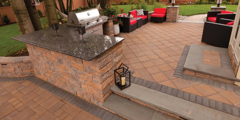standing wall and red pavers paving stone mendham dover morris millstone nj