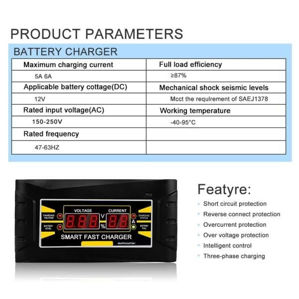 Punjač akumulatora – Smart Fast 6A-12V