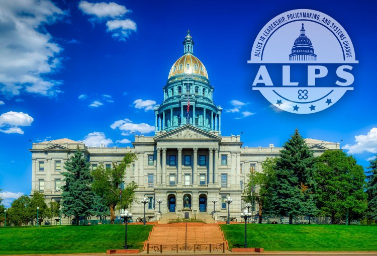 Denver capital building with ALPS logo floating above