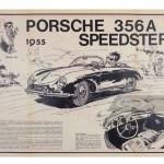1955 Porsche 356 A Speedster By Jidehem 1980 Classic Rare Porsche Posters Rm Online Only
