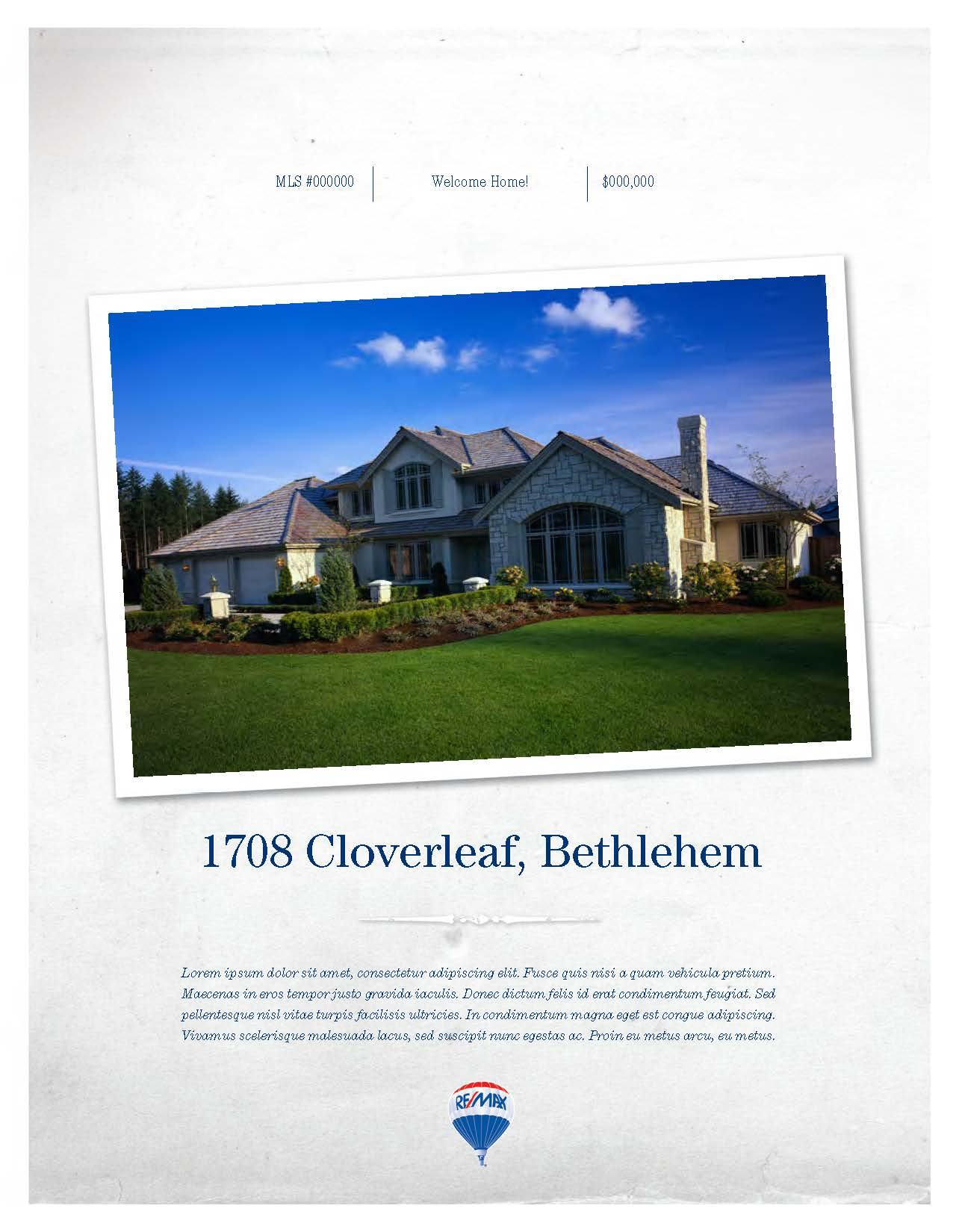 Marketing Samples Feature Sheet RE MAX Real Estate