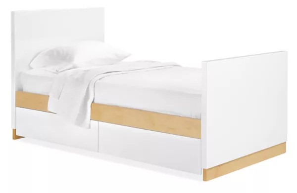 moda twin bed with two storage drawers