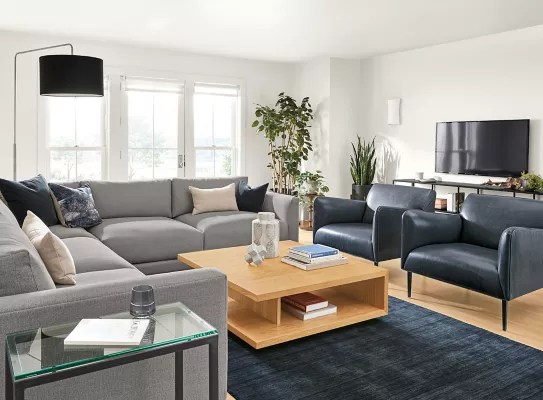 clemens extra deep l shape sectional