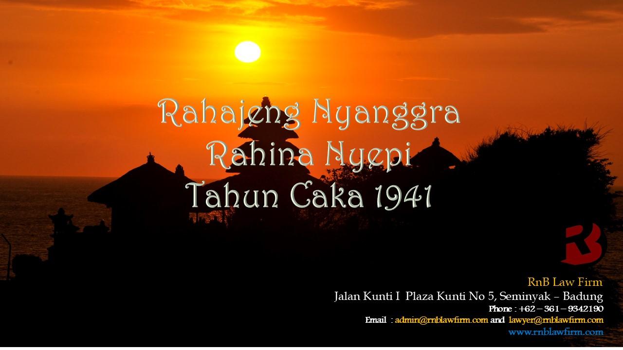 SELAMAT HARI RAYA NYEPI TAHUN CAKA 1941