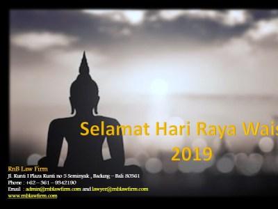 Selamat Merayakan Hari Raya Waisak 2019