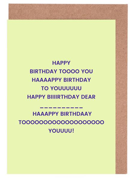 Happy Birthday To You Greeting Card Set Juniqe