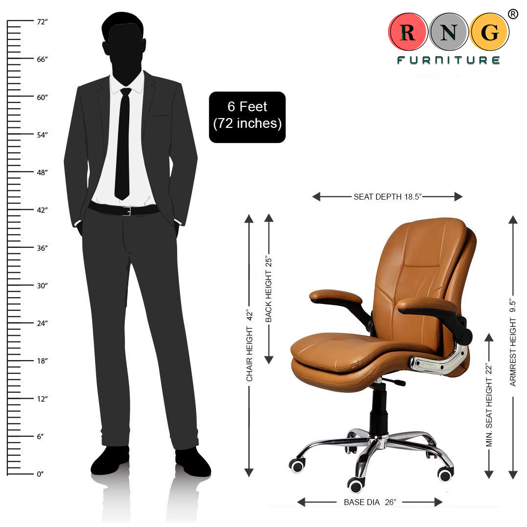 Rng Medium Manager Executive Revolving Leatherette Office Chair With Rolling Moving Wheels Revolving Spine Lumbar And Ortho Backrest Support Rng Furniture