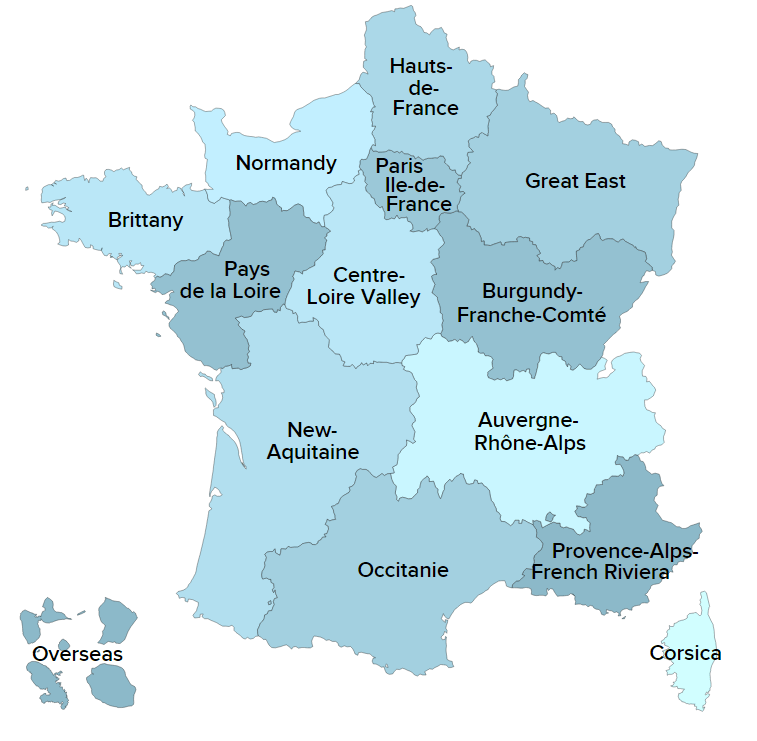 Map Of France Vendee Region.Regions Of France Rni Travel Experience France