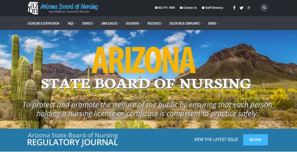 """Arizona board of nursing license lookup"""