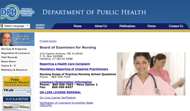 """RN License Verification CT"""