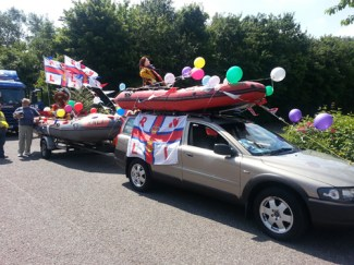 Our float at the Newport Pagnell Carnival