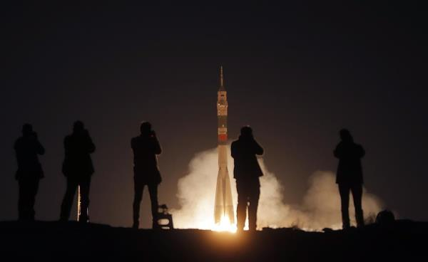 Lanzamiento desde el cosmódromo de Baikonur, en Kazajistán. EFE/EPA/MAXIM SHIPENKOV/ Archivo