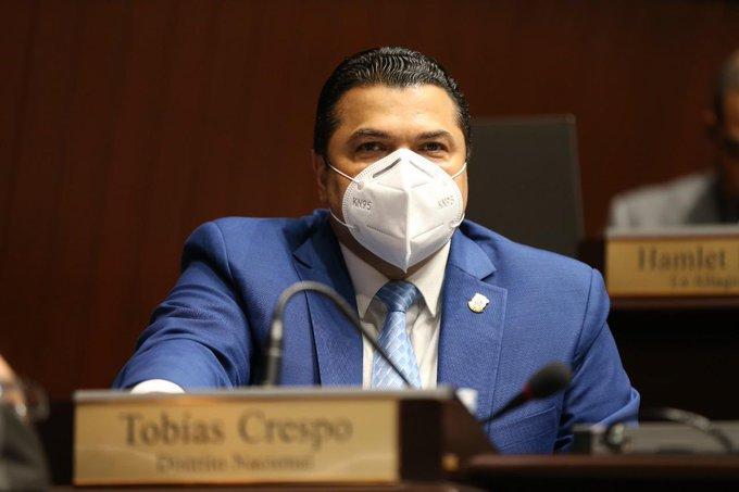 El diputado de la Fuerza del Pueblo (FP), Tobías Crespo