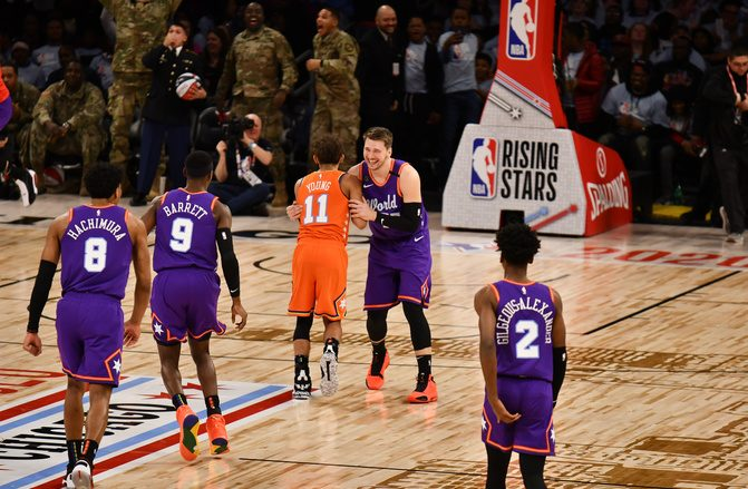En el partido se enfrentaban los jugadores de primer año contra los de segundo año en la NBA. (Foto: Fuente Externa) ARCHIVO