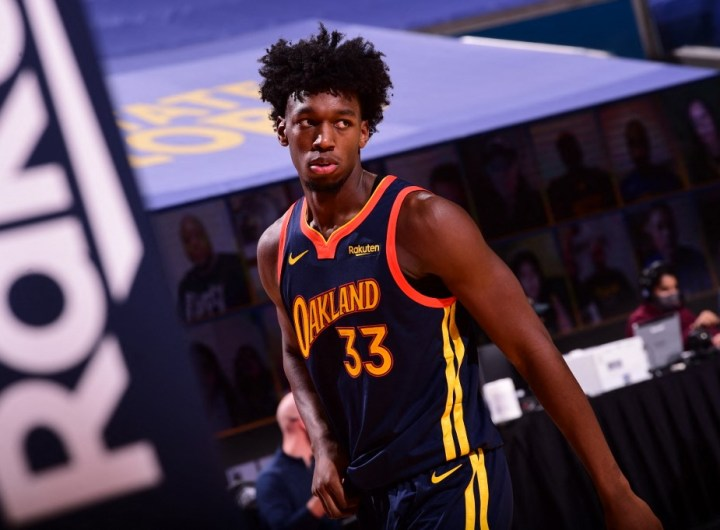James Wiseman, #33 de los Golden State Warriors, fue la segunda selección del draft de novatos de 2020.  (Foto: Noah Graham / NBAE / Getty Images / Getty Images via AFP)