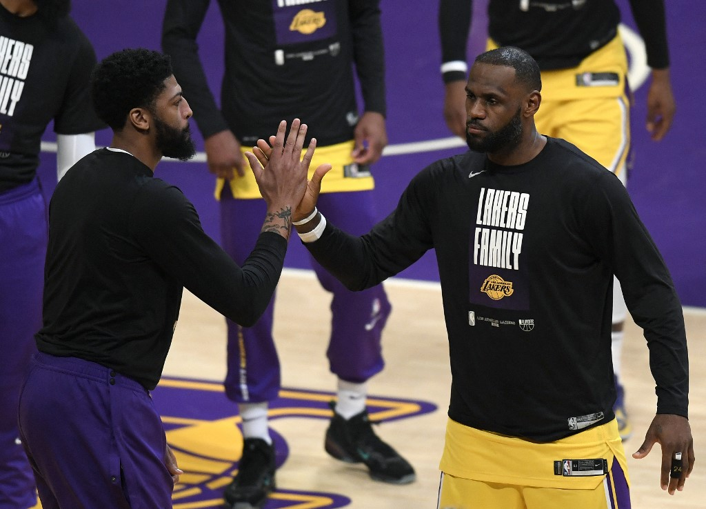 LeBron James y Anthony Davis    (Foto: Harry How / GETTY IMAGES NORTH AMERICA / Getty Images via AFP)