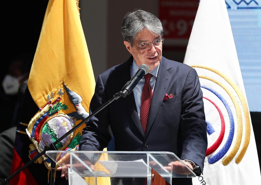 En la imagen, el presidente de Ecuador, Guillermo Lasso. EFE/José Jácome/Archivo
