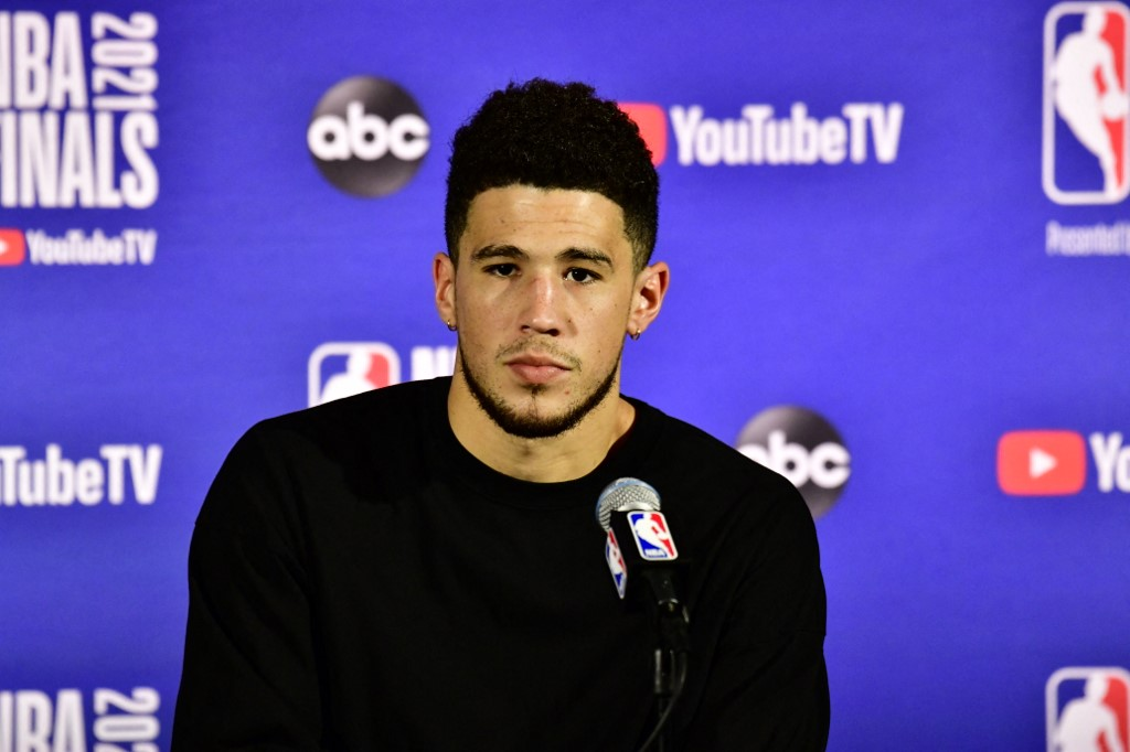 Devin Booker   (Foto: Barry Gossage / NBAE / Getty Images / Getty Images via AFP)