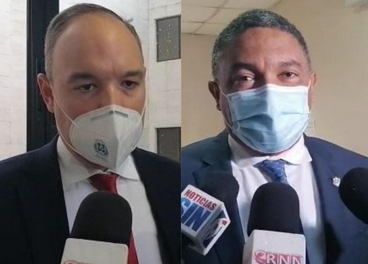 Los senadores opositores Aris Iván Lorenzo y José del Castillo Saviñón, de las provincias Elías Piña y Barahona, respectivamente.