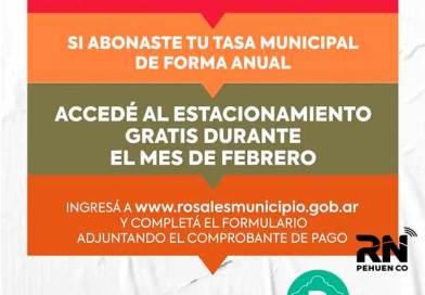 El municipio otorga estacionamiento gratis    para quienes paguen la tasa municipal anual.