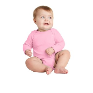 Rabbit Skins™ Infant Long Sleeve Baby Rib Bodysuit – RS4411