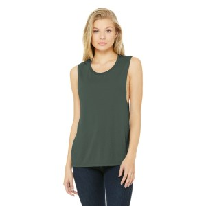 BELLA+CANVAS ® Women's Flowy Scoop Muscle Tank – BC8803
