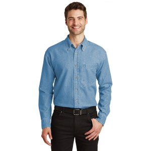 Port Authority® Long Sleeve Denim Shirt – S600