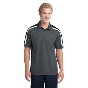 Sport-Tek® Tricolor Shoulder Micropique Sport-Wick® Polo – ST658