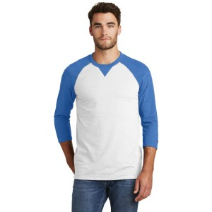 New Era® Sueded Cotton Blend 3/4-Sleeve Baseball Raglan Tee – NEA121