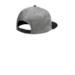 New Era ® Camo Flat Bill Snapback Cap – NE407